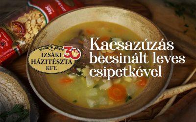 Így készült: Kacsazúzás becsinált leves csipetkével